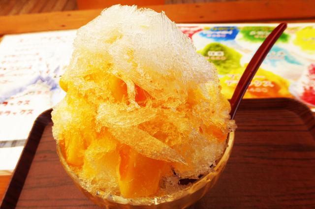 富浦いちご狩りセンターのマンゴーかき氷の画像