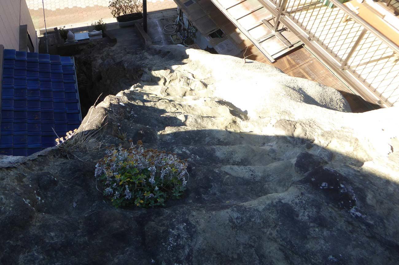 古峯神社の長く急な階段を上から撮影