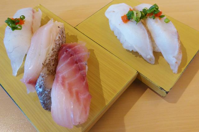 山傳丸の房州地魚3種にぎりの画像