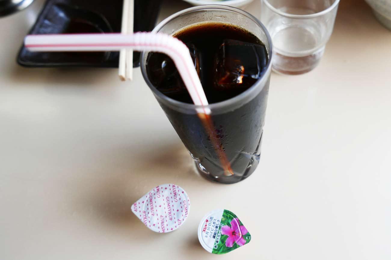 ラーメンむさしの食後のコーヒーの画像