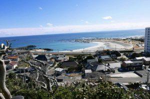 浅間神社から太平洋を望む