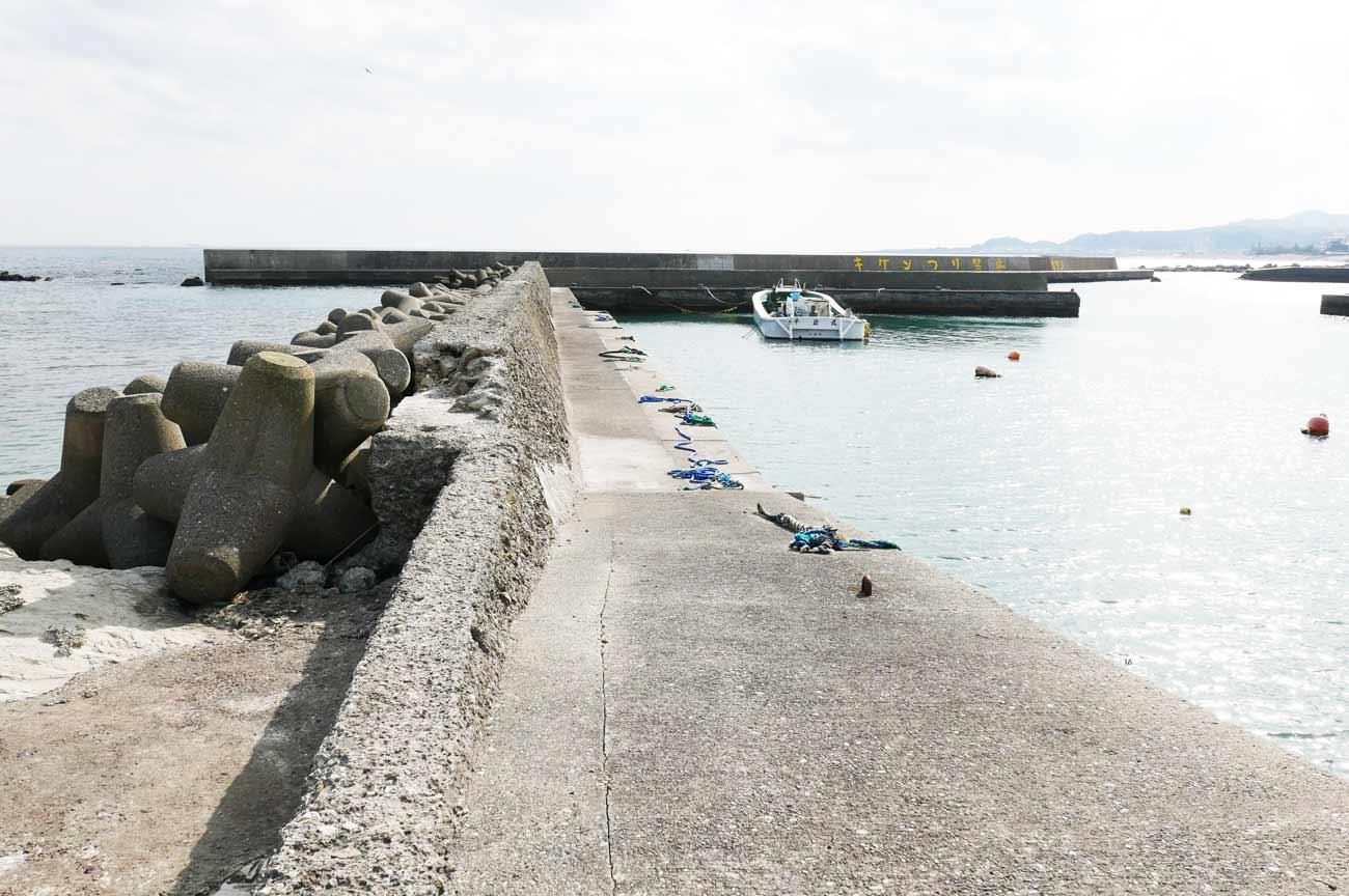 白子港左側の堤防のポイント