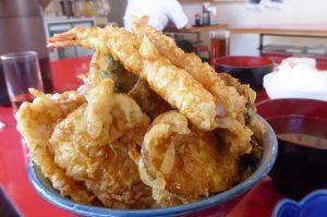 館山食堂の天丼のアップ画像