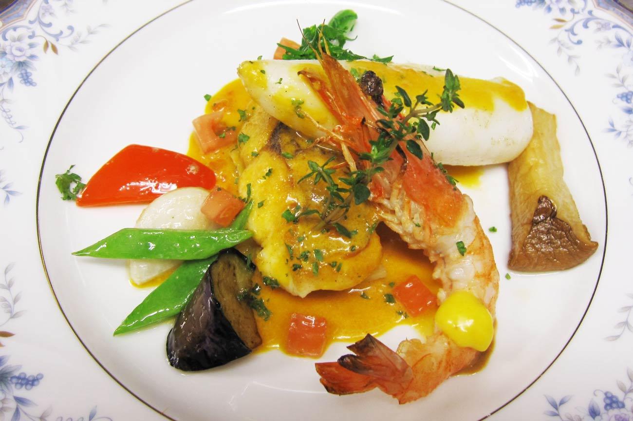 レストラン大澤の魚介類のマルセイユ風の画像