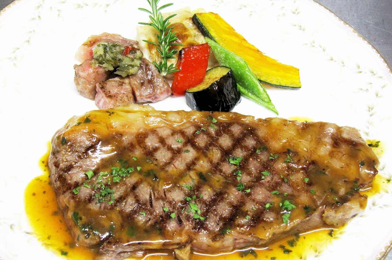 レストラン大澤の黒毛和牛サーロインサービスステーキ200gの画像