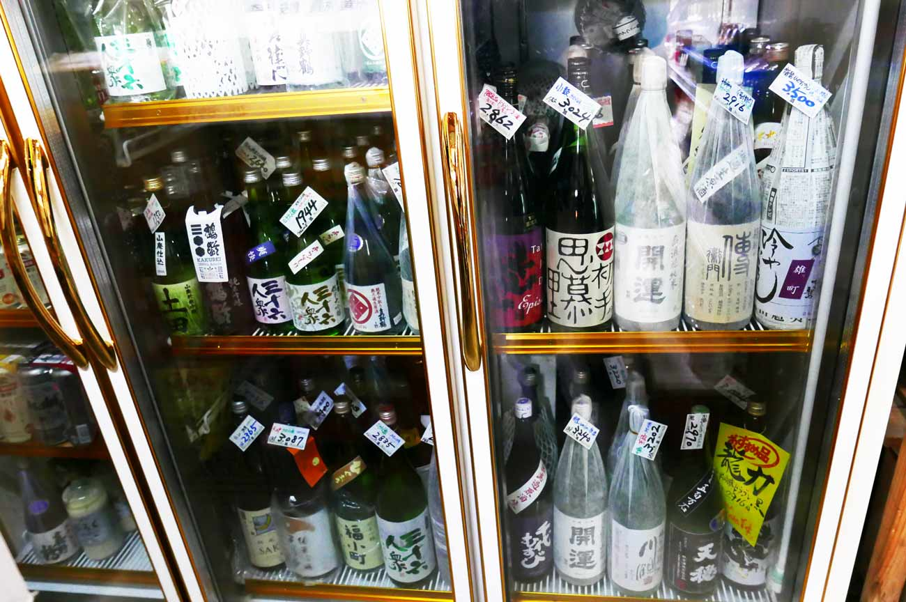 庄作商店の日本酒コーナーの画像
