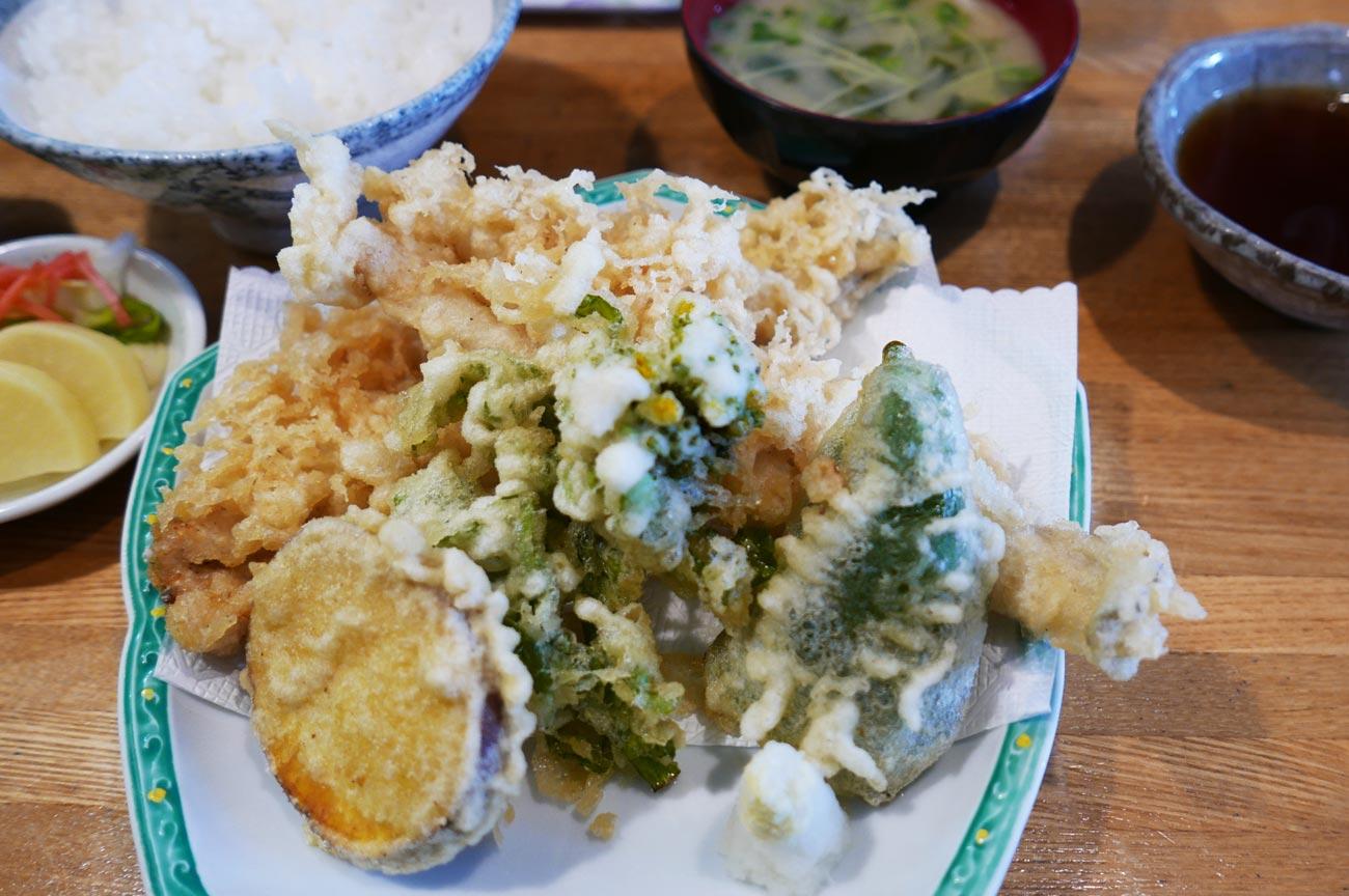 味処あさみの穴子天ぷら定食の画像