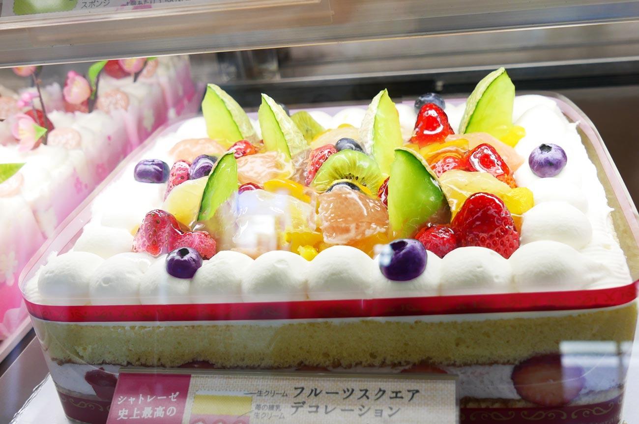 シャトレーゼのデコレーションケーキのアップ画像