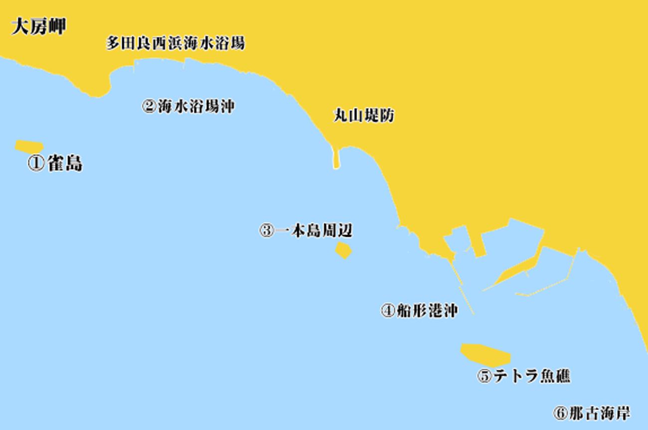 船形沖のポイント図