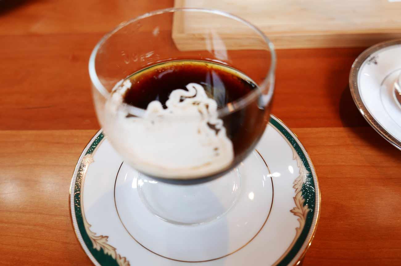 くまカフェのコーヒーゼリーの画像