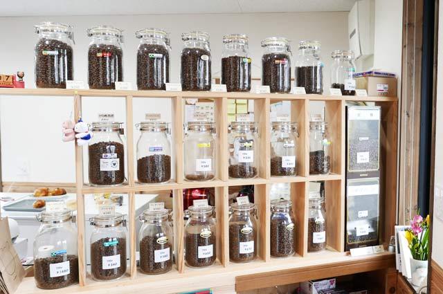 くまカフェのコーヒー豆の画像
