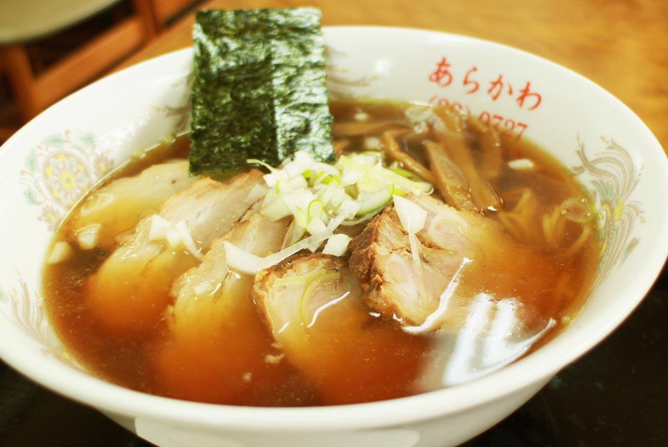 あらかわ食堂のチャーシュー麺の画像