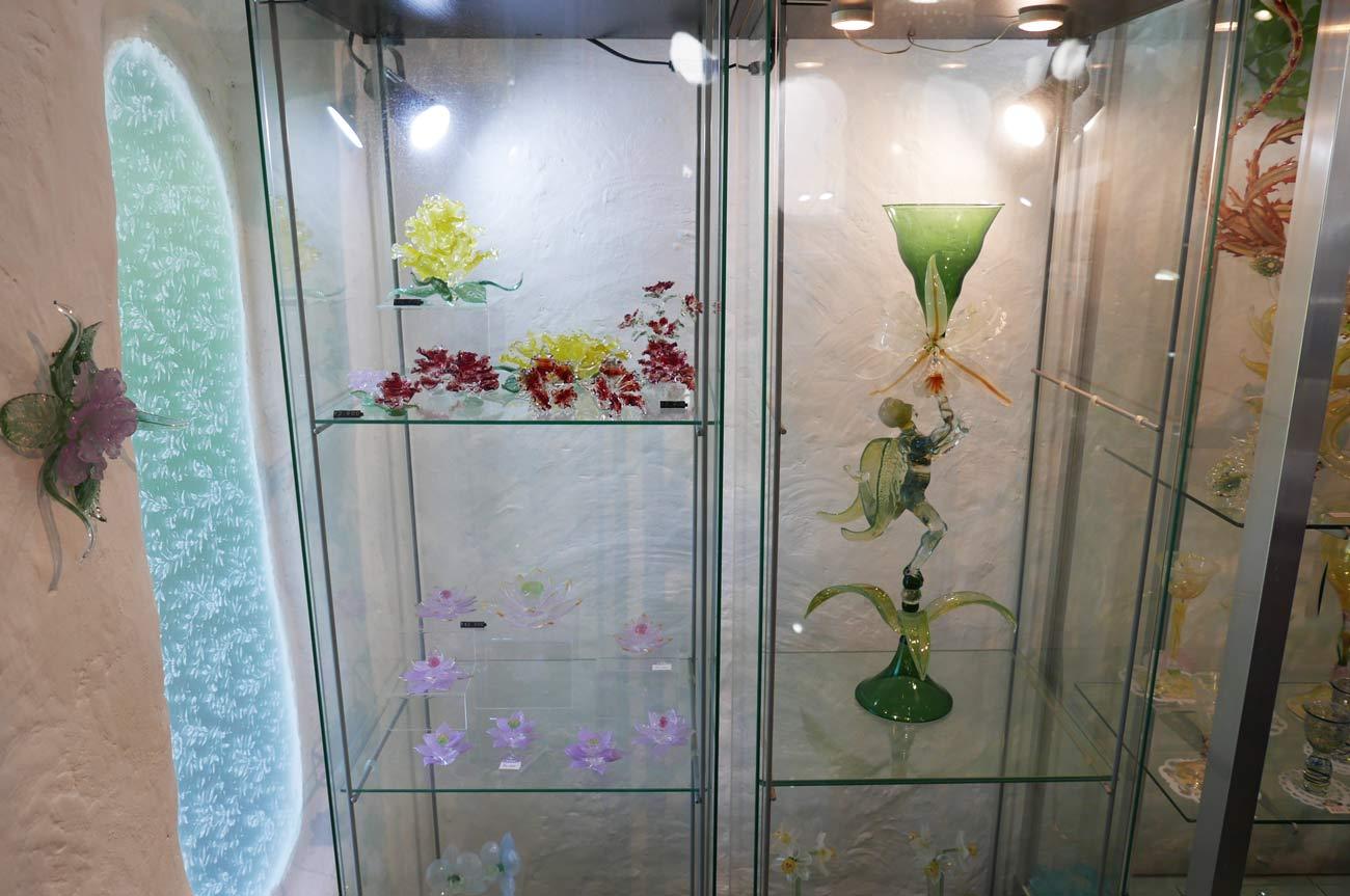ガラス工房アルコスのガラスの宇宙飛行士の画像