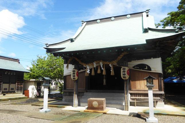 岩井神社の拝殿の画像