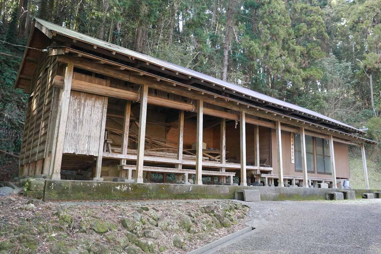 貴船神社の舞台の画像