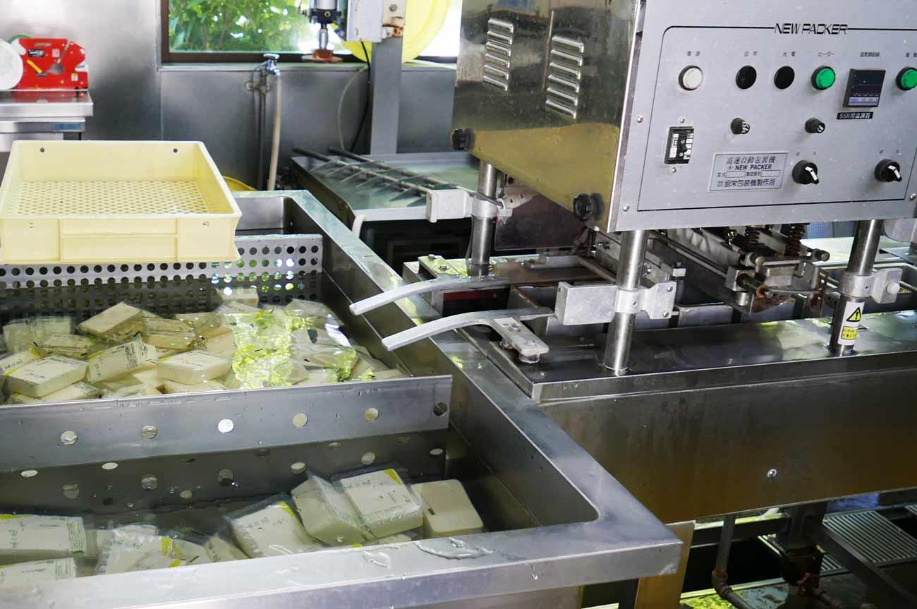 豆腐の製造過程の画像