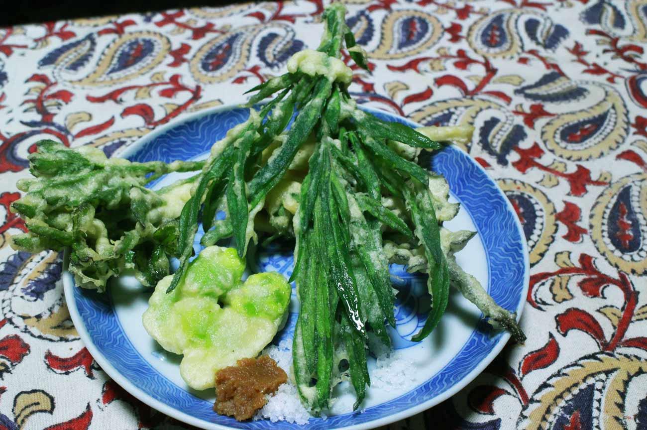 山菜の天ぷらの画像
