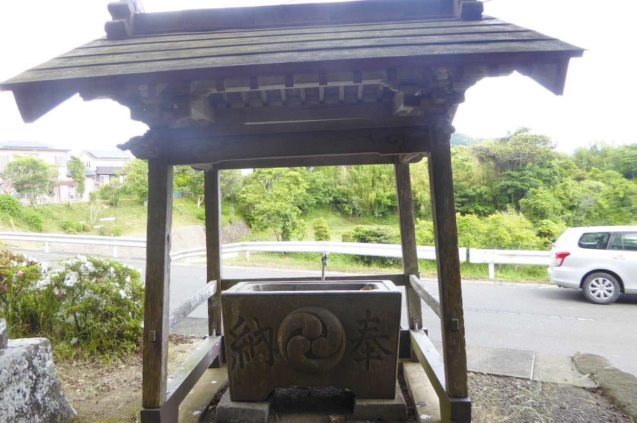 春日神社の手水舎の画像