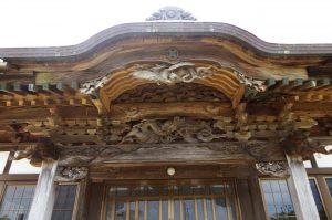 花蔵院の波の伊八の彫刻の画像