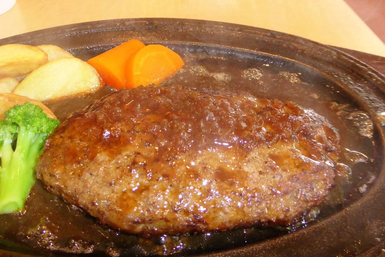 一粒の麦のハンバーグステーキの画像