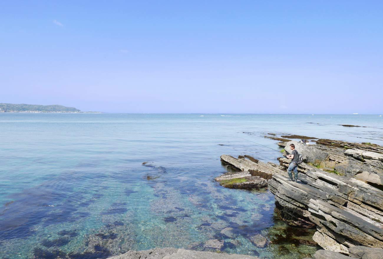 沖ノ島の釣りの画像