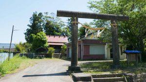 神明神社境内の画像