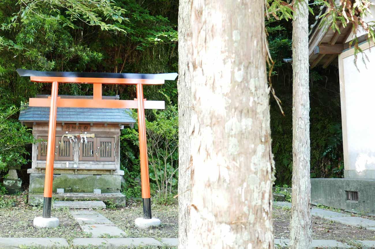 白岩弁財天拝殿左の白岩稲荷の画像