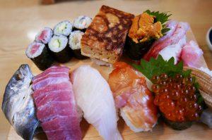茂八の特上寿司の画像