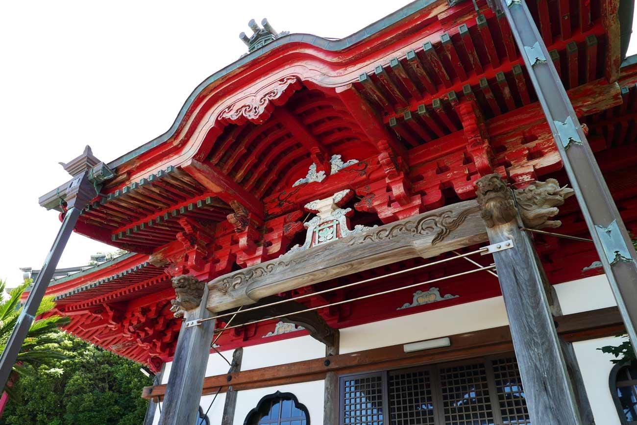 妙福寺祖師堂のアップ画像