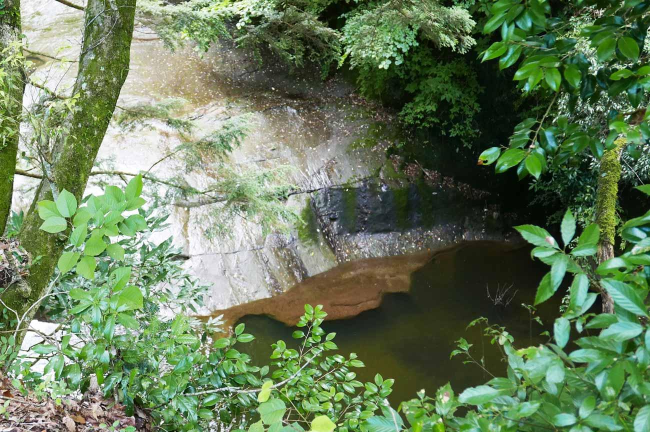 濃溝の滝の下流の滝画像