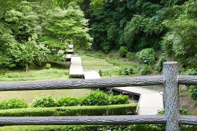 木道入り口の画像