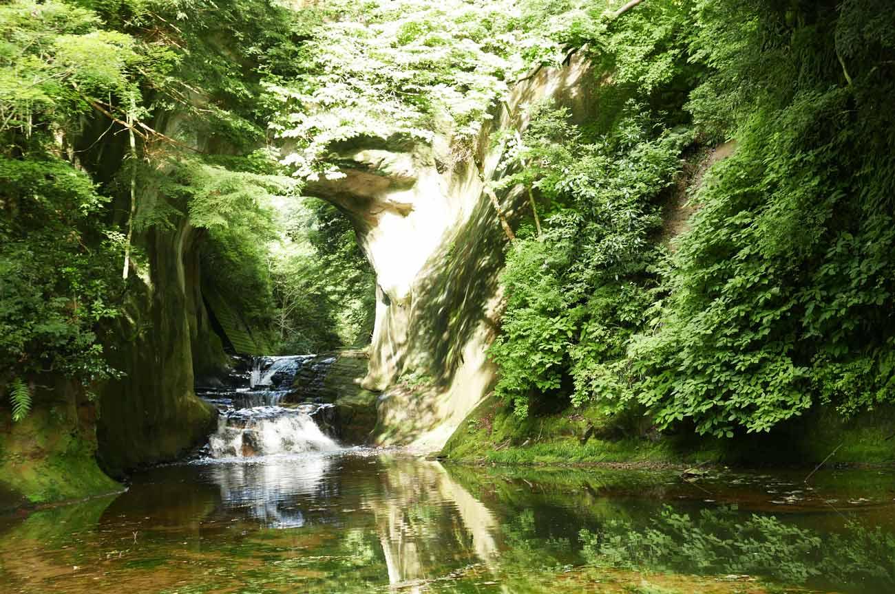 亀岩の洞窟の画像