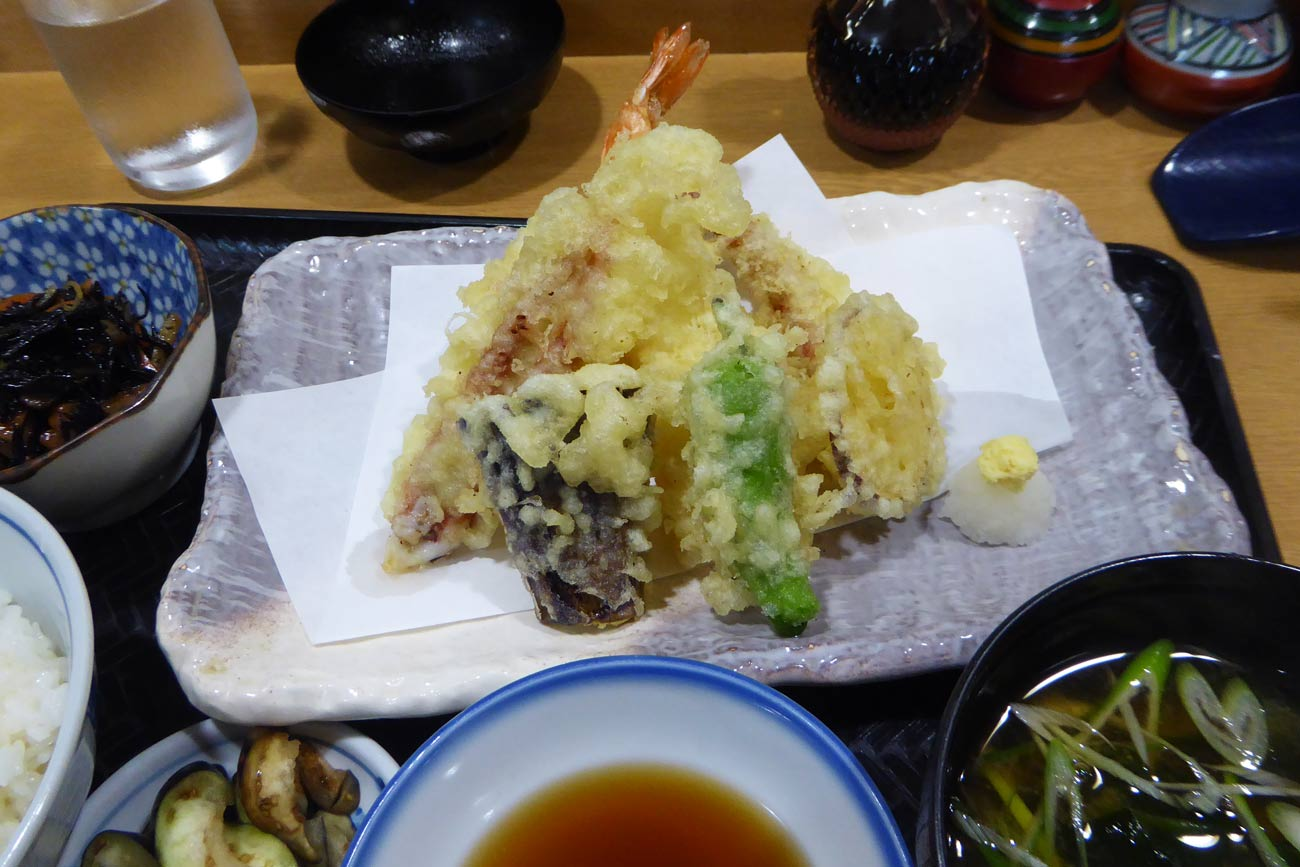天ぷら定食の画像