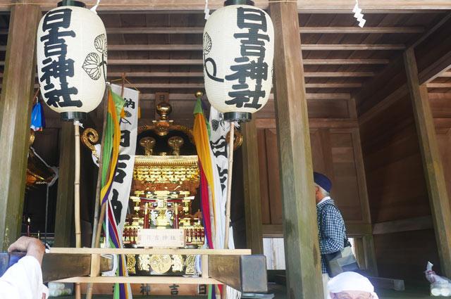 日吉神社の神輿の画像