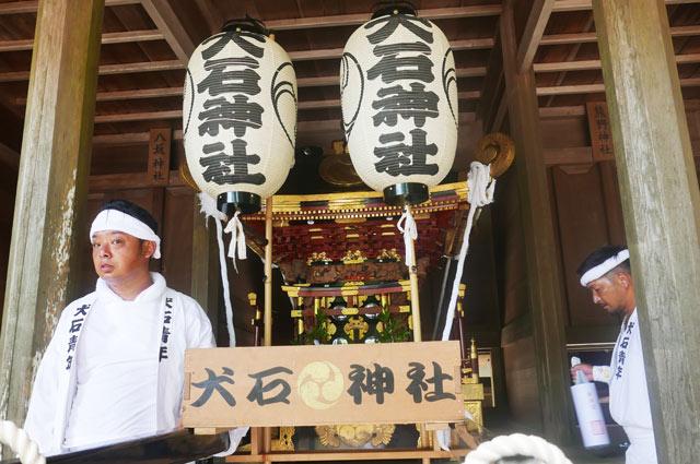 犬石神社の神輿の画像
