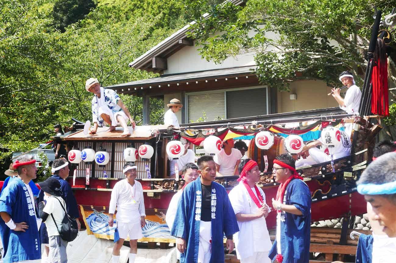相浜神社のお舟(波除丸)の画像