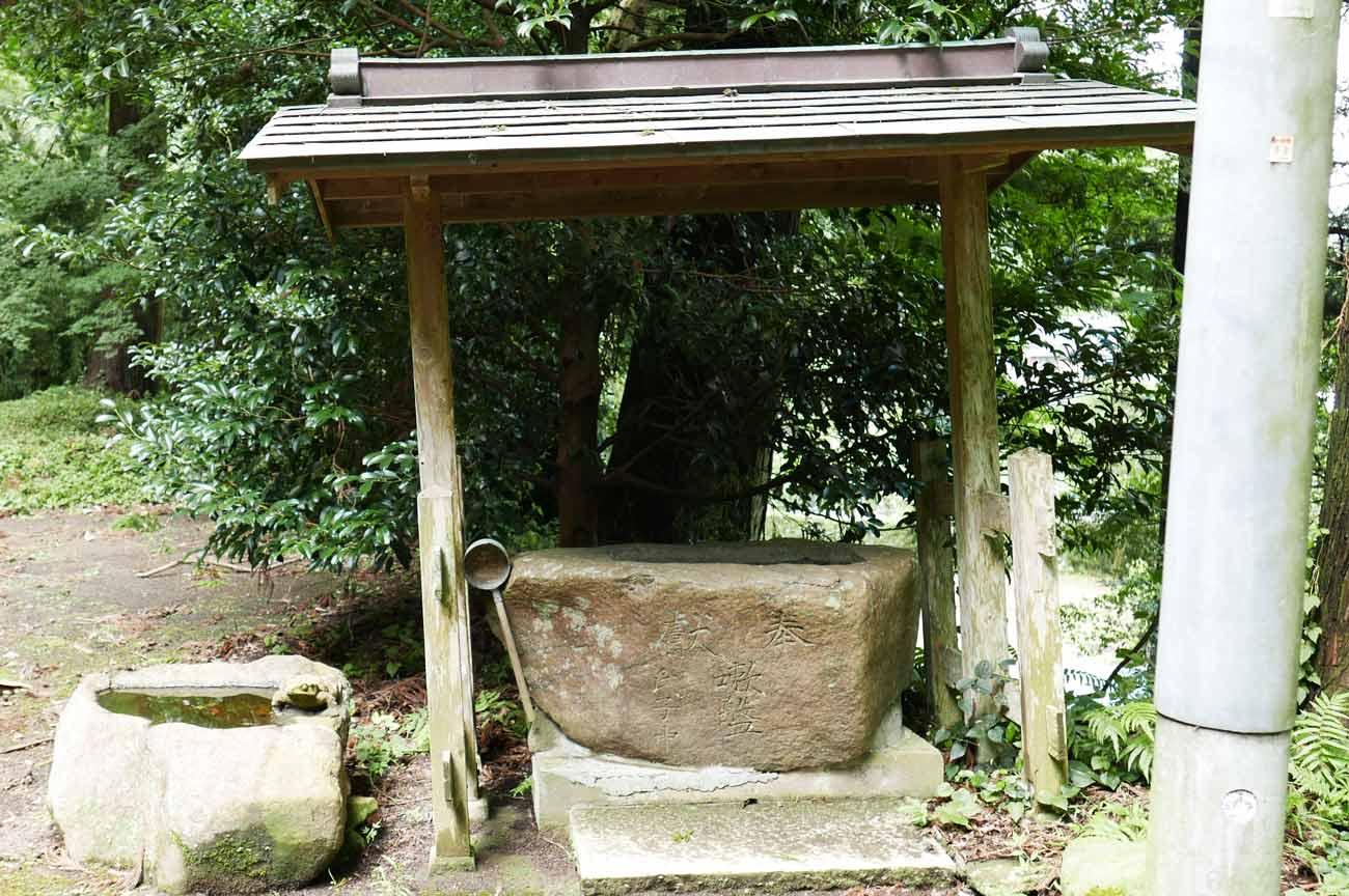 白山神社手水舎の画像