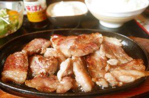 食堂きんざのおろし焼肉定食の画像