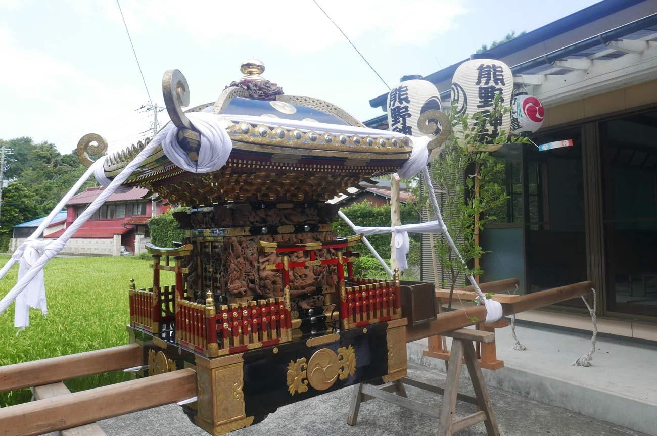 熊野神社の神輿の画像