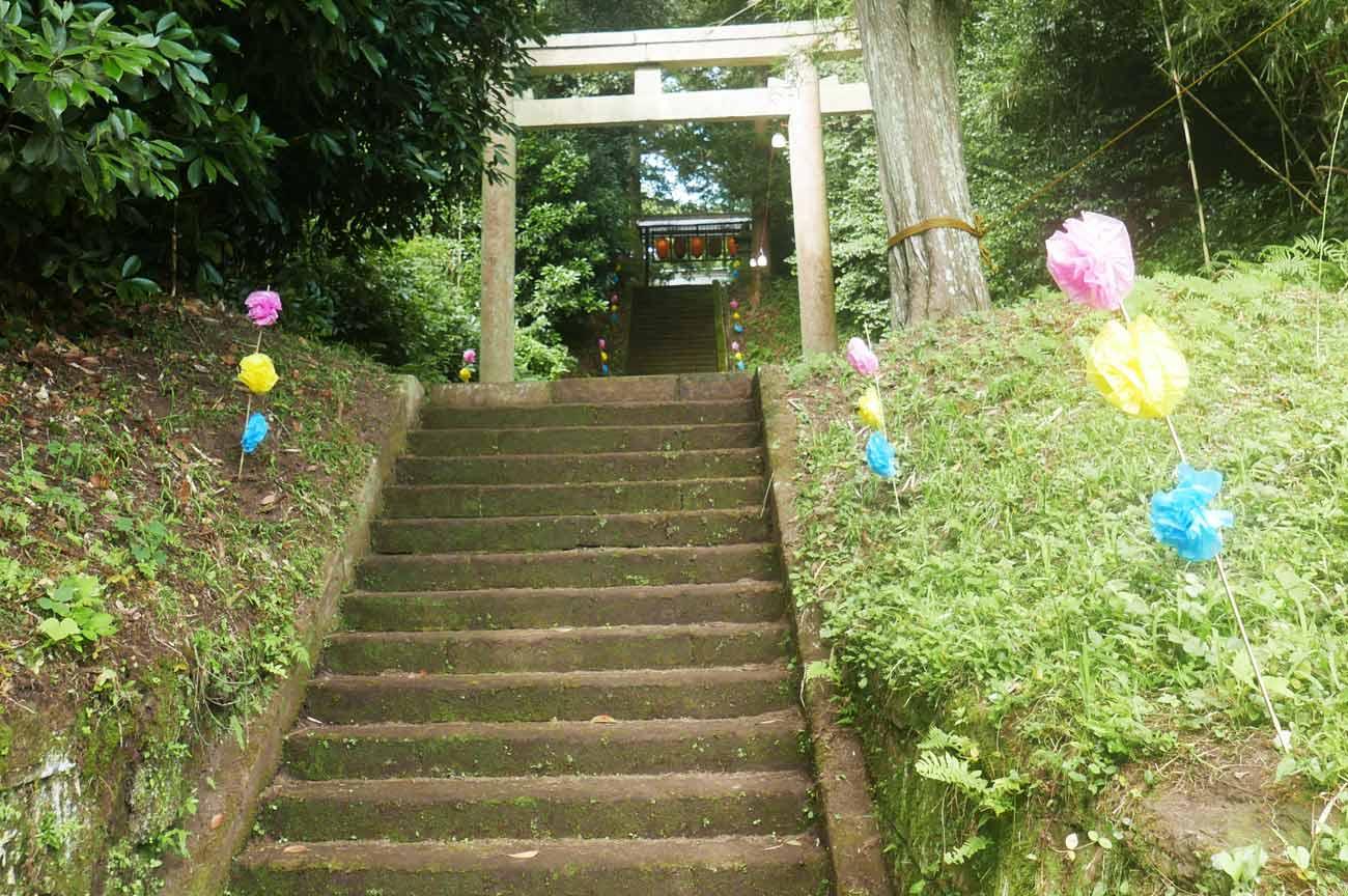 熊野神社参道の画像