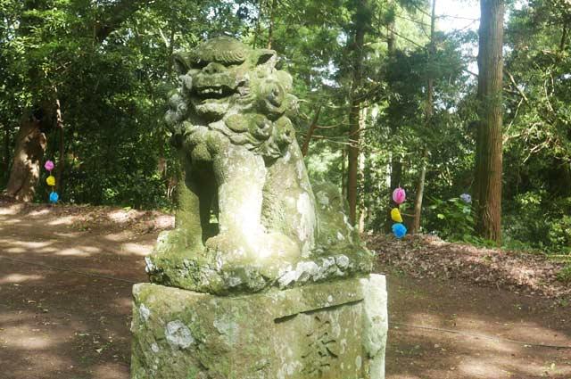 熊野神社狛犬(右)の画像