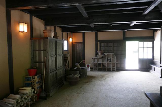 旧水田家住宅の土間の画像