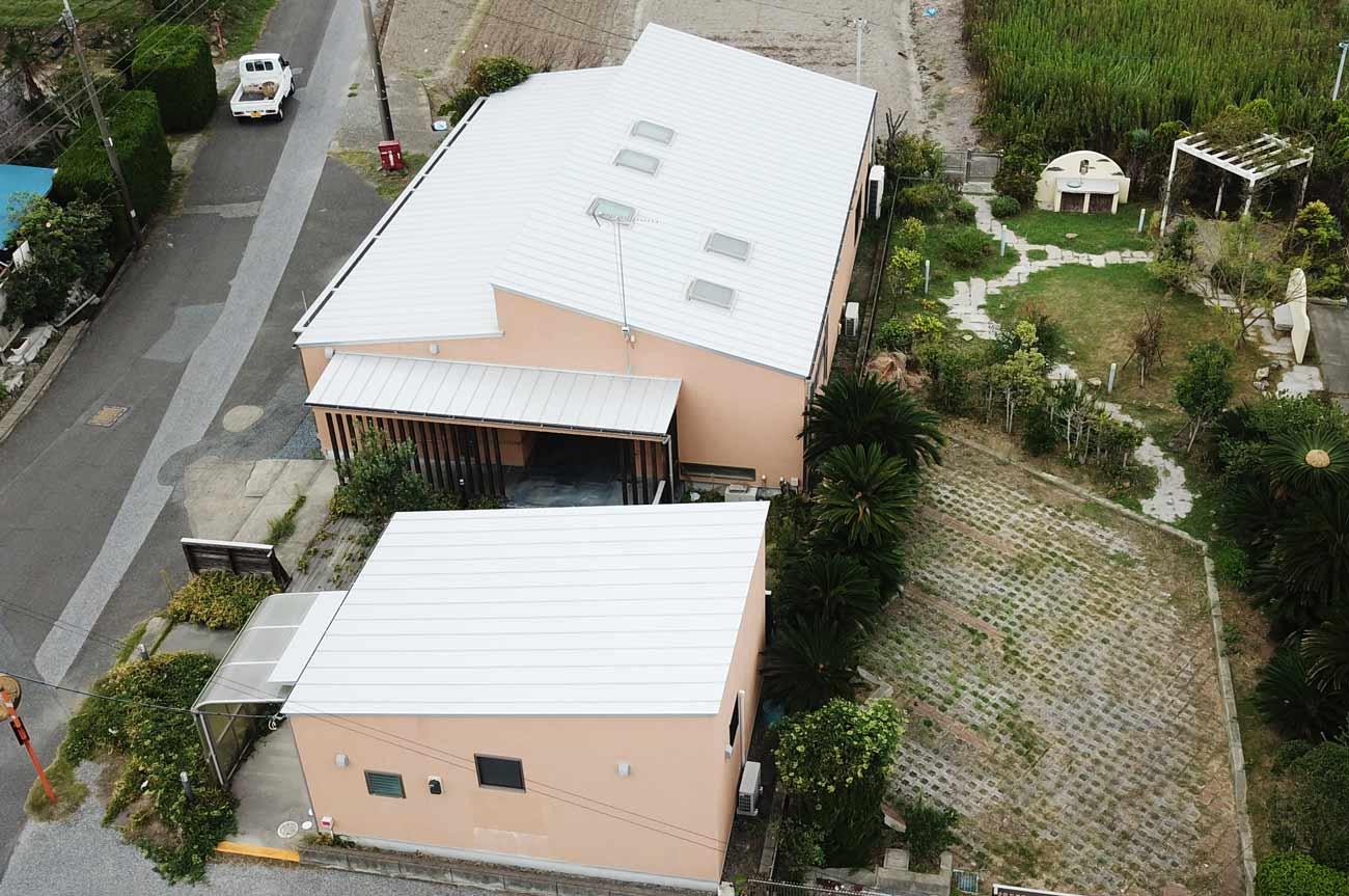 旧七浦診療所上空の画像