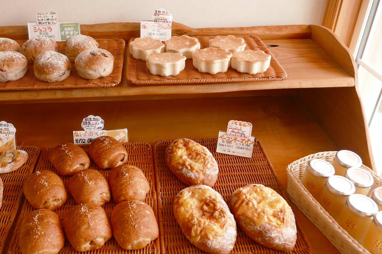 塩バニラクリーム、ベーコンチーズパンの画像