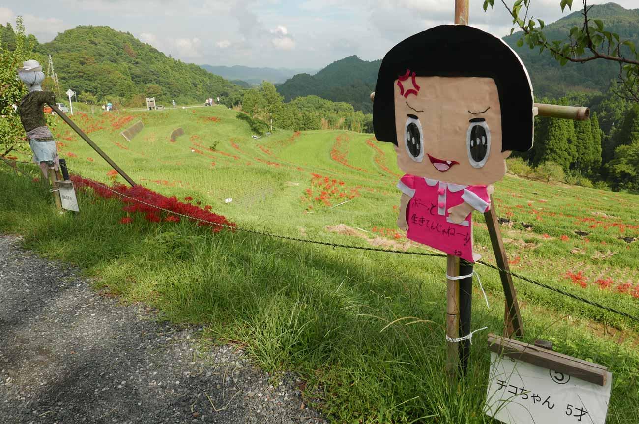 大山千枚田のかかしの画像