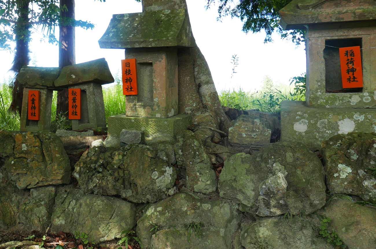 熊野神社の石祠の画像