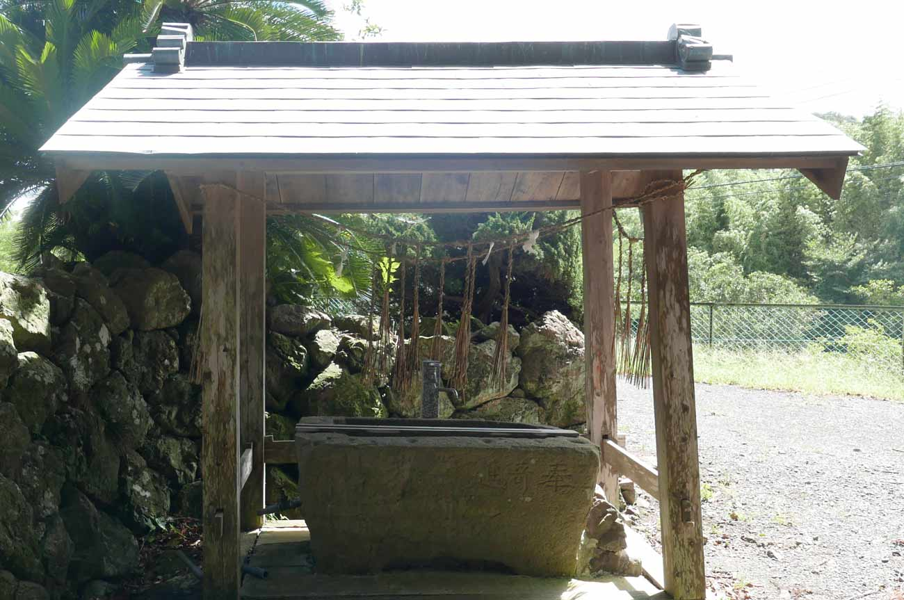熊野神社の手水舎の画像
