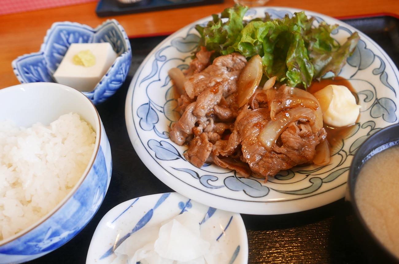 まさきの豚生姜焼定食の画像