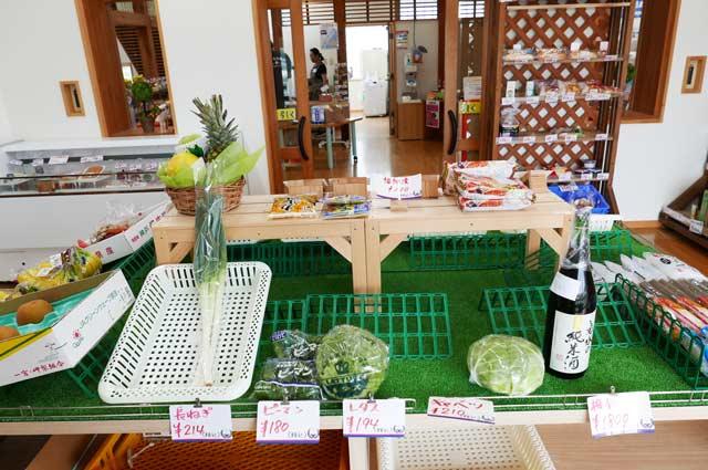 七浦横丁の地元野菜販売コーナーの画像