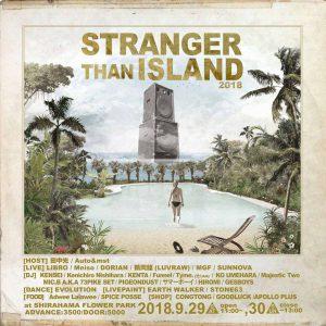 STRANGER THAN ISLAND 2018のチラシ